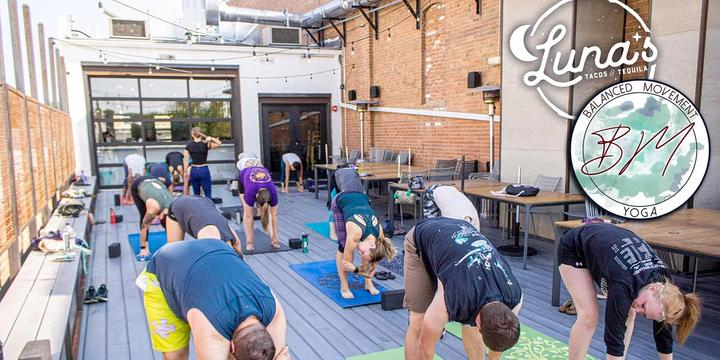 Rooftop Yoga + Brunch on the Patio at Luna's Tacos & Tequila