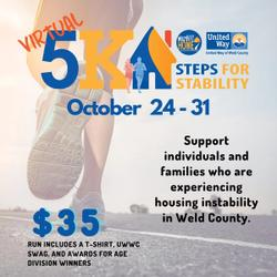 Live United *virtual* 5k Run - Steps for Stability