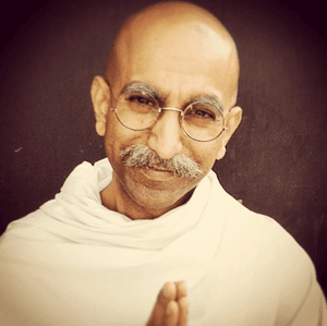Happy Birthday, Mahatma Gandhi! (Yeah, that's me.)