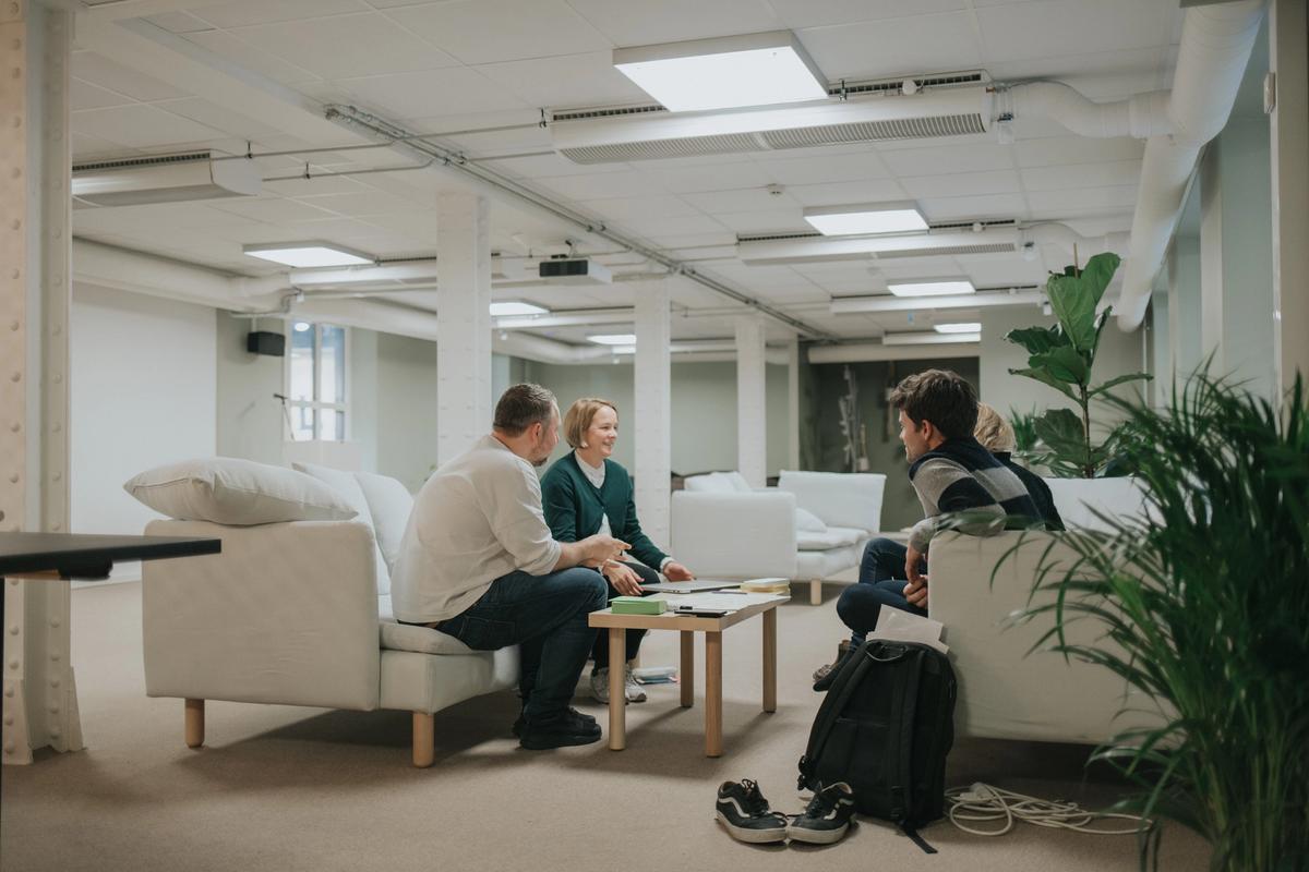 Trivelige kolleger i Netlife Design