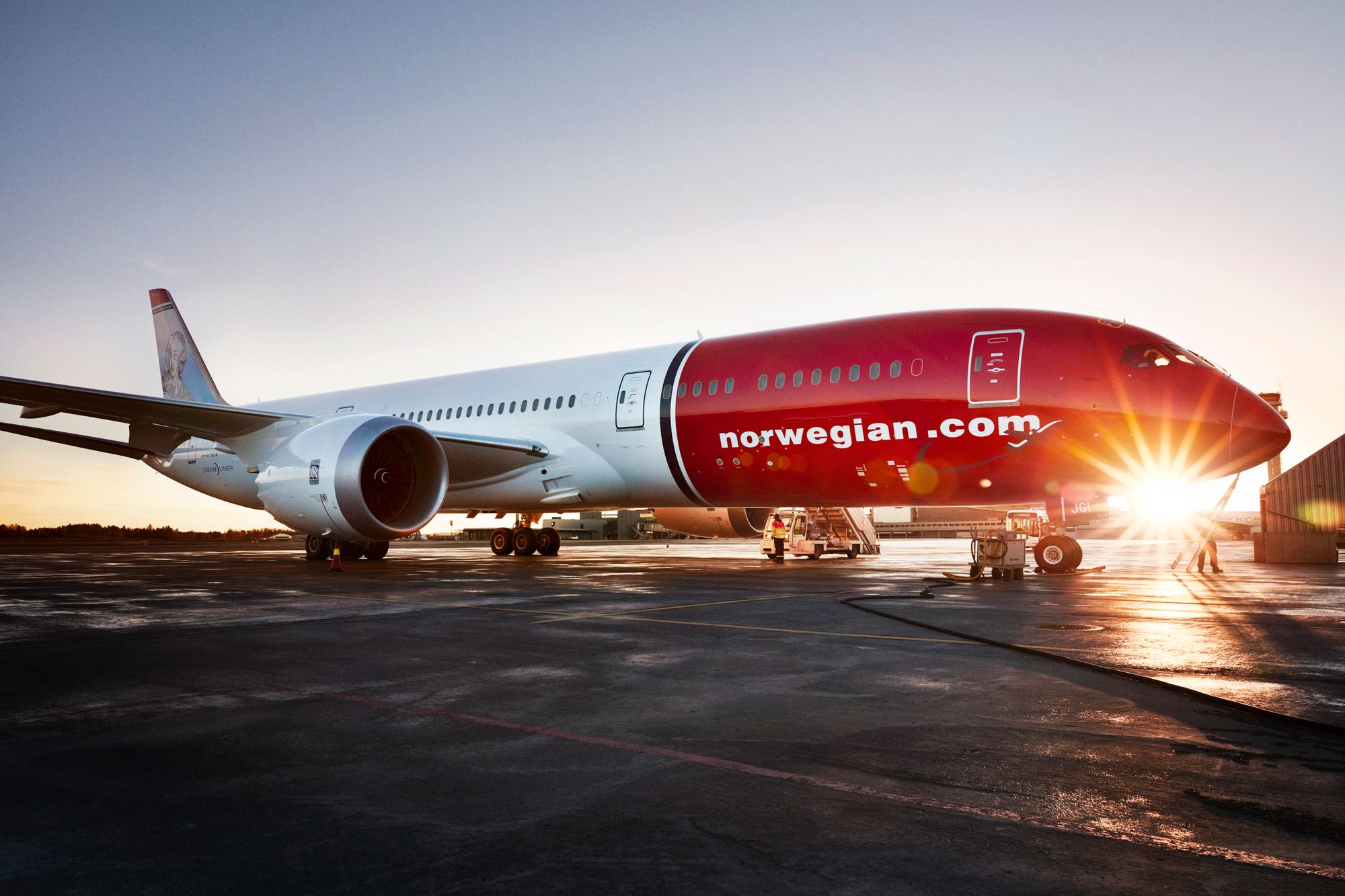 Bilde av Norwegian fly