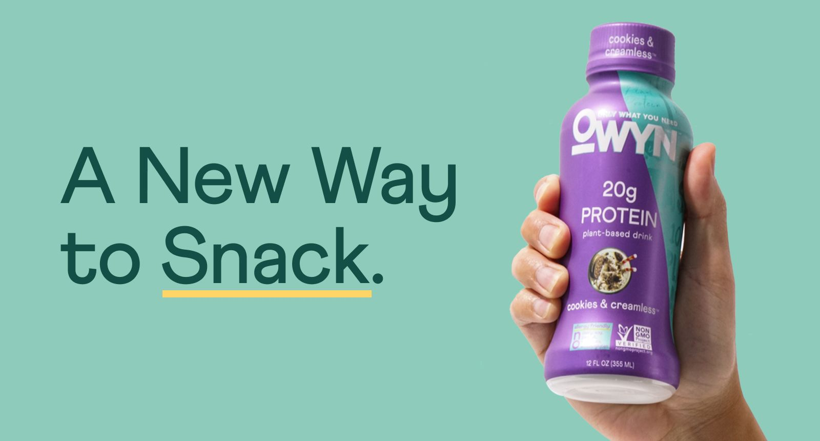 A new way to snack.