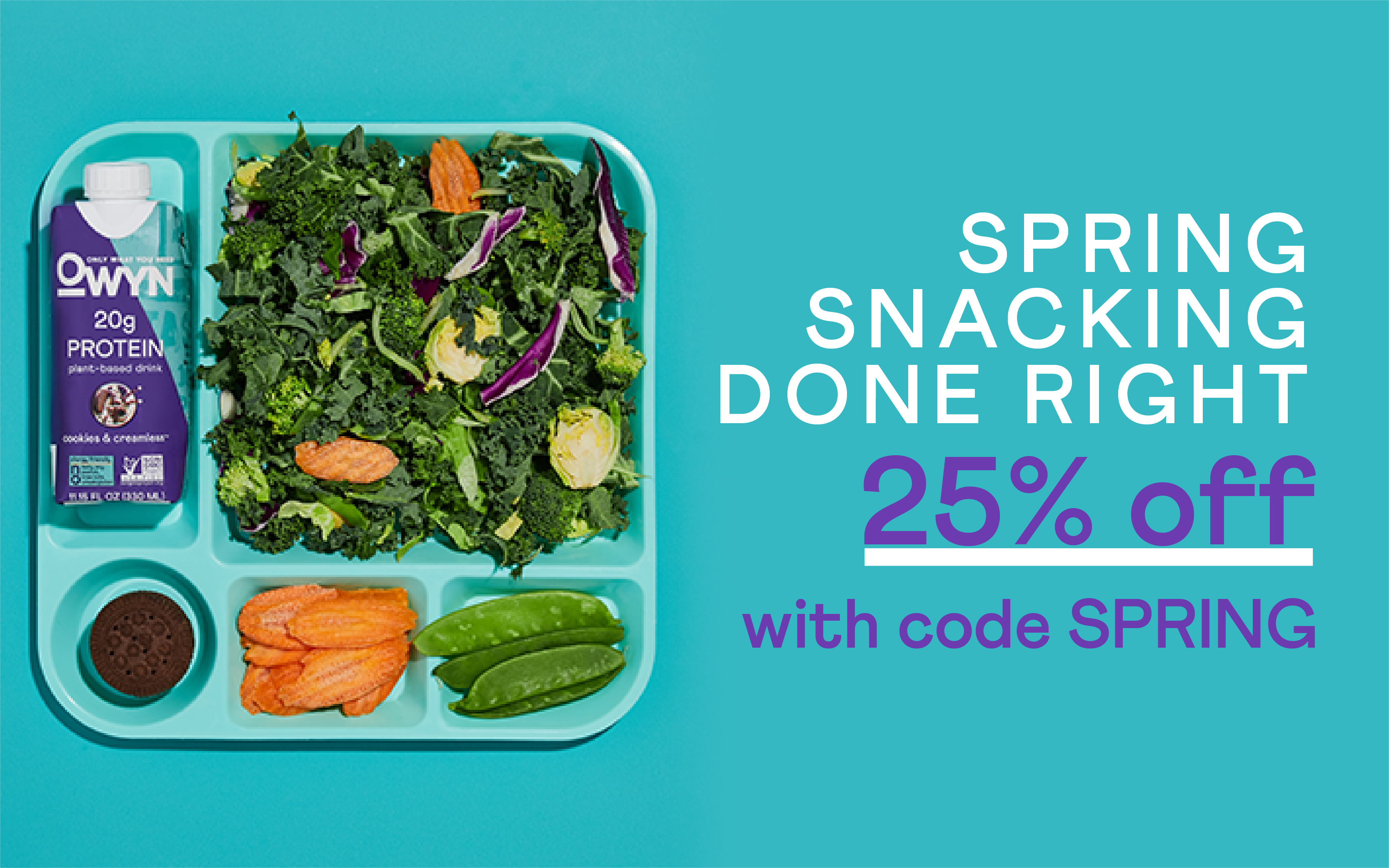 Spring Snacking Done Right - 25% Off