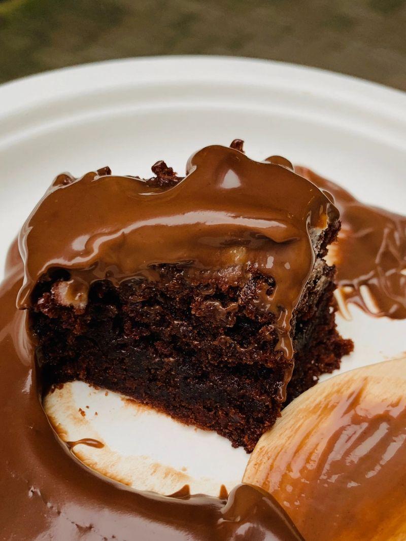 OWYN Caramel Brownie Date Bars