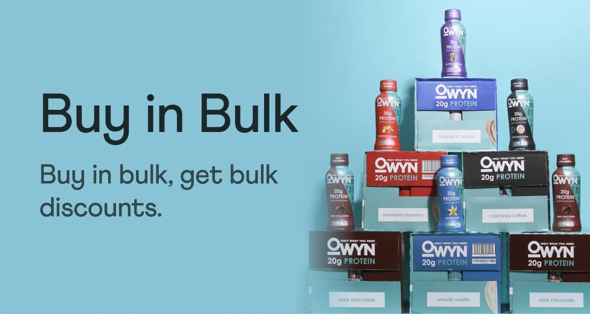 Buy in bulk, get bulk discounts