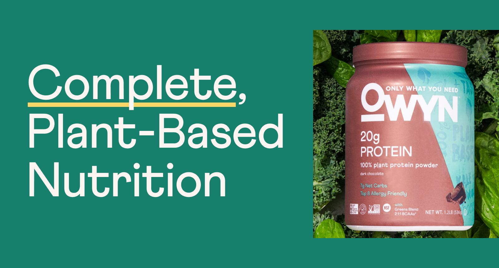 Complete, plant-based nutrition.