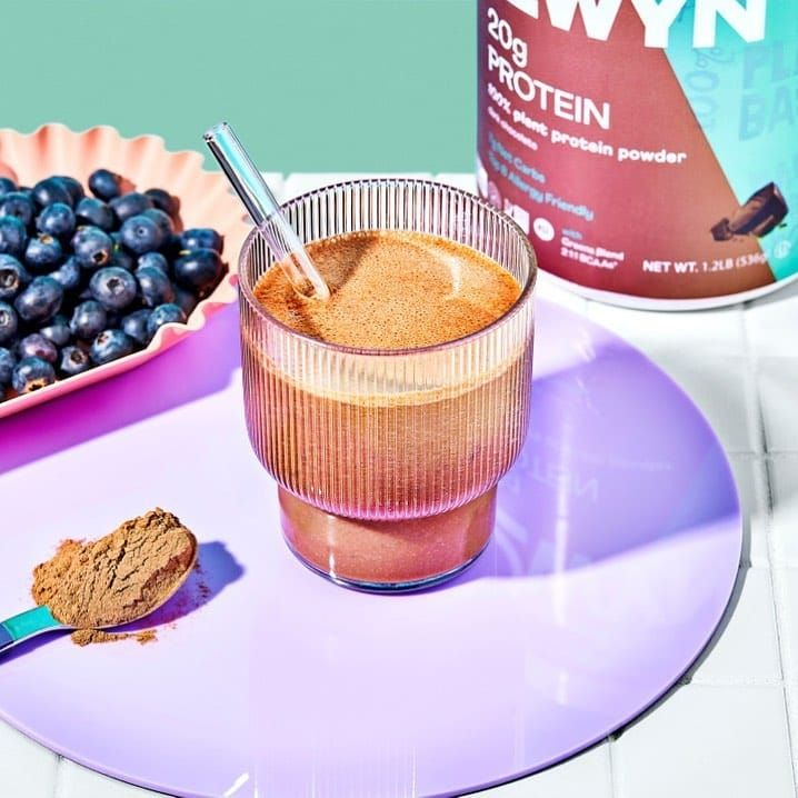 Shake made with OWYN Chocolate Protein Powder
