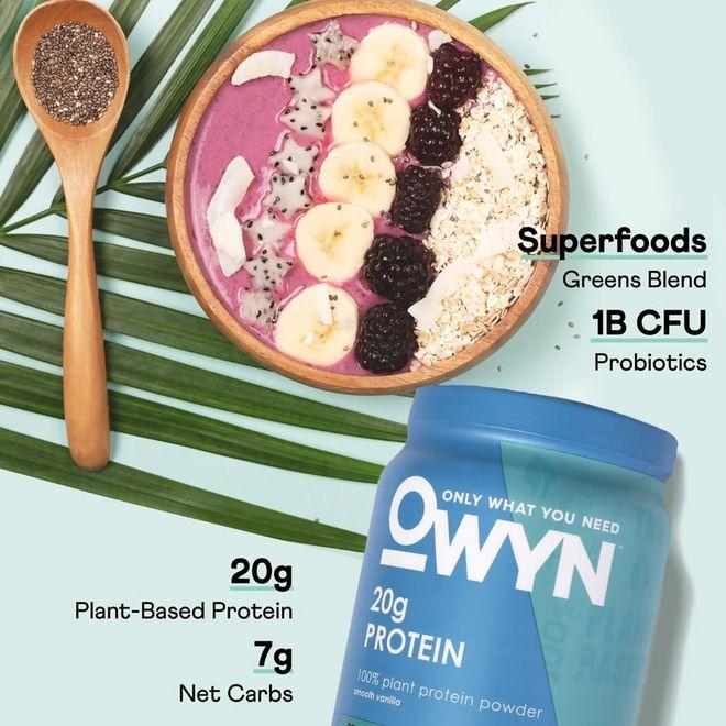 OWYN 1lb Smooth Vanilla Protein Powder Features