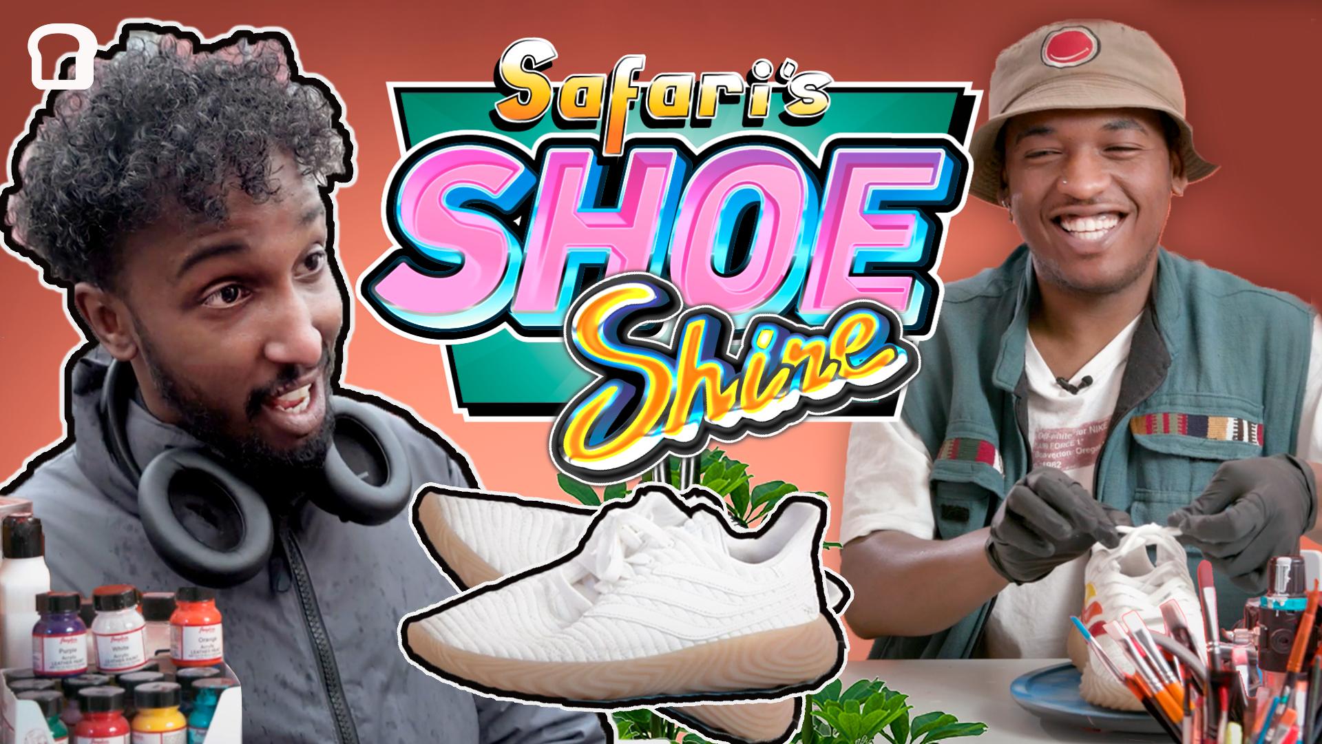 Jonis Josef tar med et par alt for freshe sko til Safari. Skoene pimpes i Shoeshine-studioet til noe vi kan si er både digg for øyne og føtter. Det hele tar en litt brå vending når Safari skal vise Jonis resultatet, for skoene blir litt for fete. Vi kan derfor ikke garantere give away i denne episoden.
