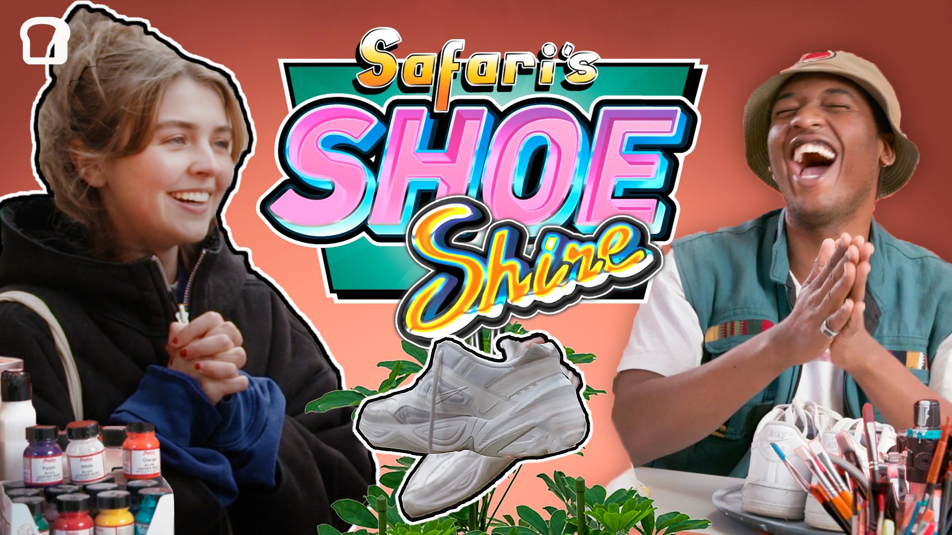 Annika fra 4ETG er blant de generøse som gir bort et par av sine elskede sko, for at de skal få nytt liv, og nye eiere å glede. Vi håper du gleder deg til å se skoene etter en heftig pimping hos Safari.