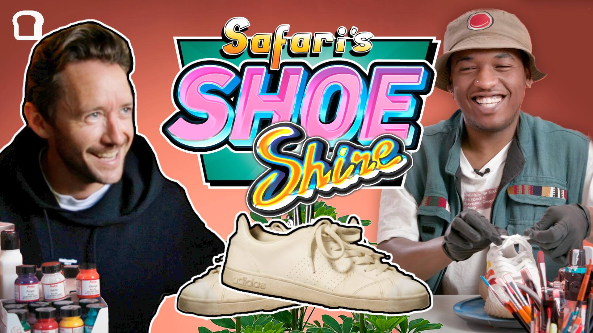 Selveste Fingern roter i skapet sitt for å finne frem noen sko Safari kan pimpe og gjøre klare for en ny glad eier. Skoene fra Fingern er i utgangspunktet freshe, men blir enda freshere etter en real runde pimping.