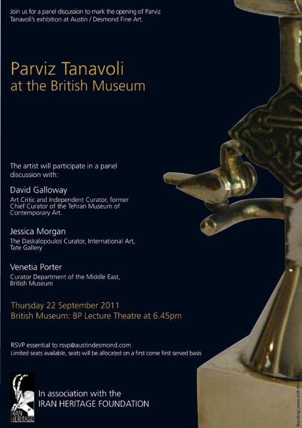 Parviz Tanavoli at the British Museum