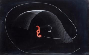 Photogram with a Red Object