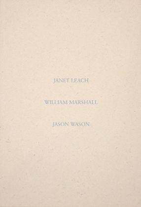 Janet Leach, William Marshall and Jason Wason - Ceramics
