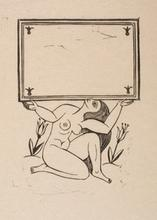 Naked Girl Supporting Cartouche