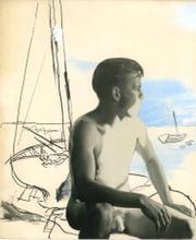 Seated Naked Figure on Beach [PC6], c.1939