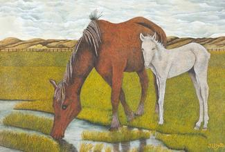 Horse and Foal, c. 1960