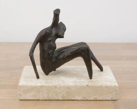 Maquette for Seated Torso, conceived in 1954, cast in 1956