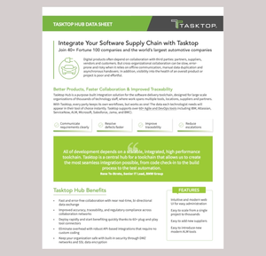Tasktop hub supply chain data sheet