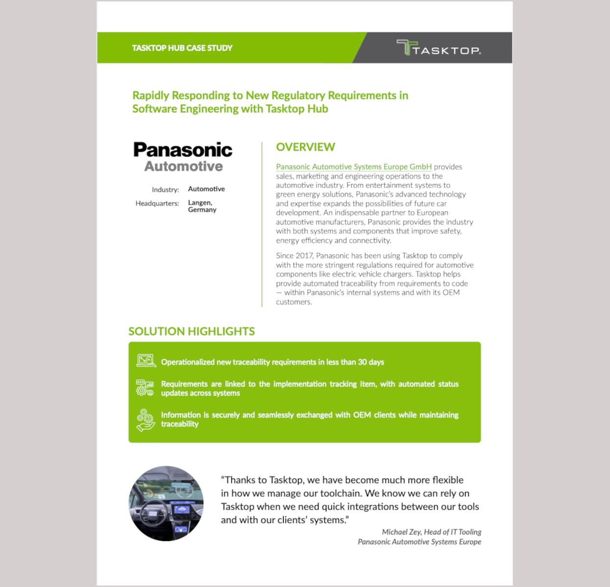 Panasonic Automotive Case Study