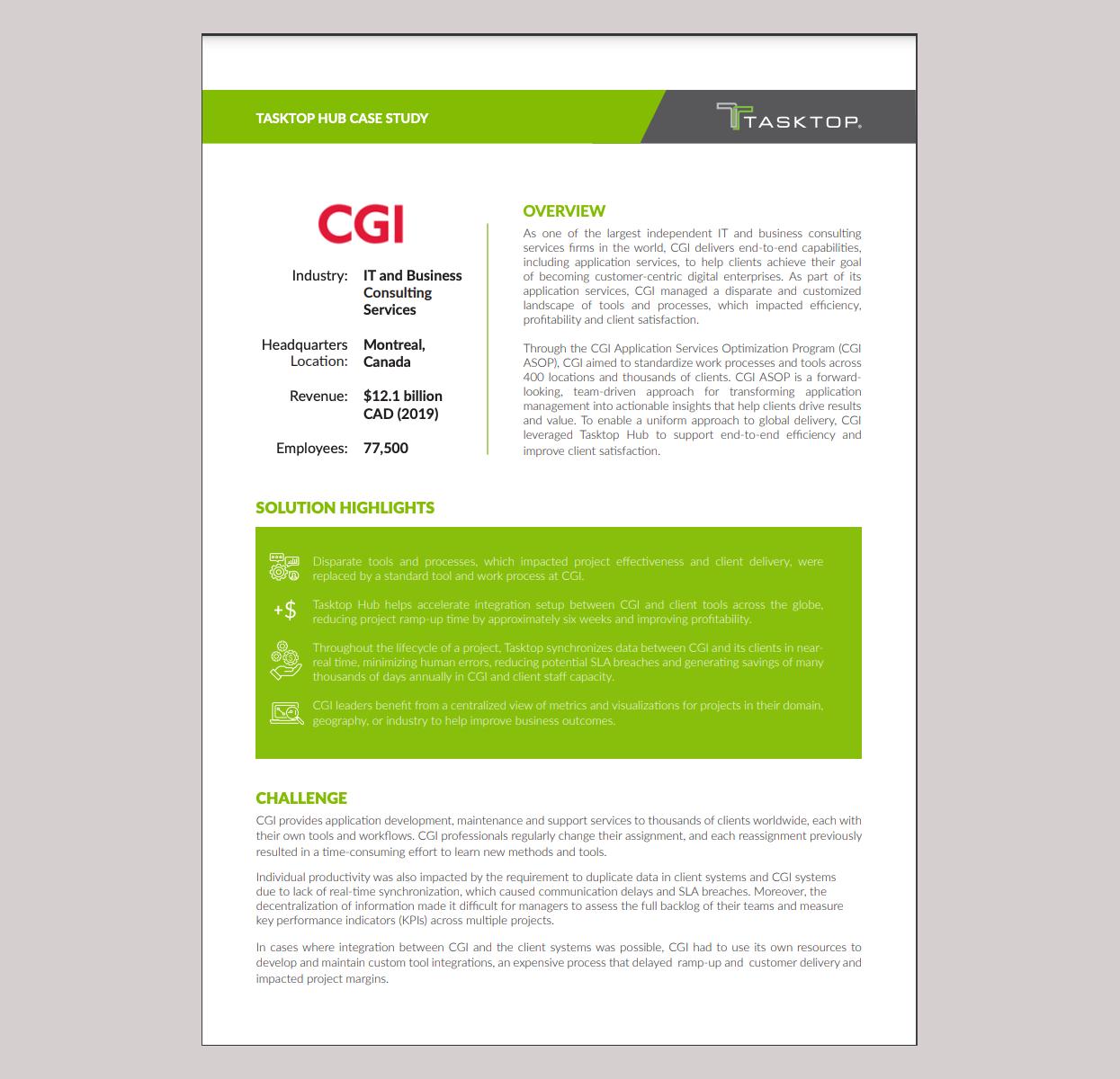 value stream management cgi case