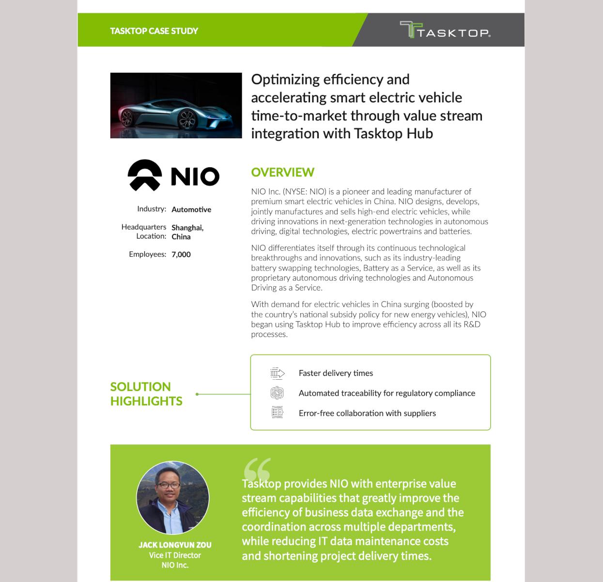 nio value stream integration case study