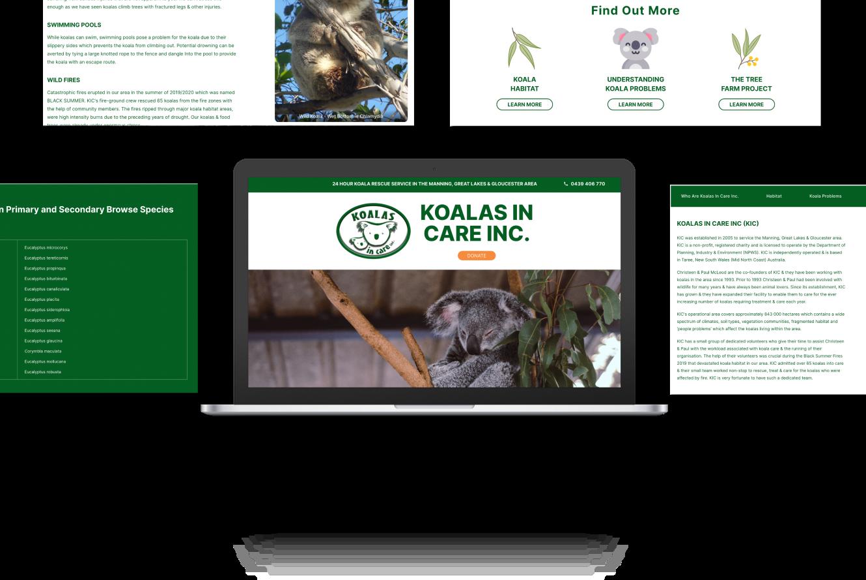Website Development for Koalas In Care