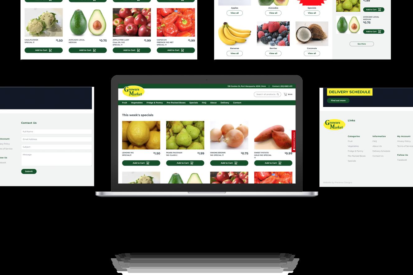 Website Development for Growers Market