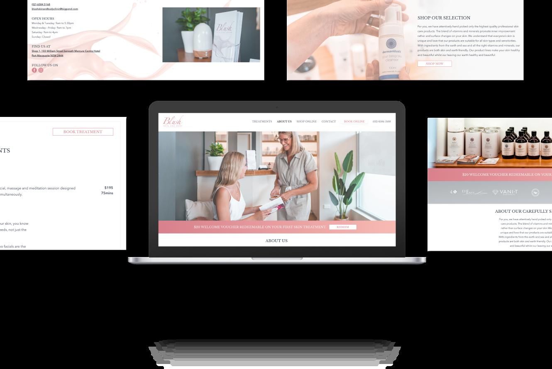 Website Development for Blush Skin & Beauty
