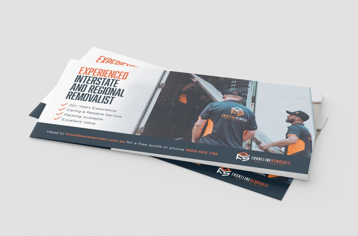Graphic Design services for Frontline Removals & Storage