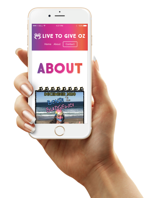 website mobile mockup