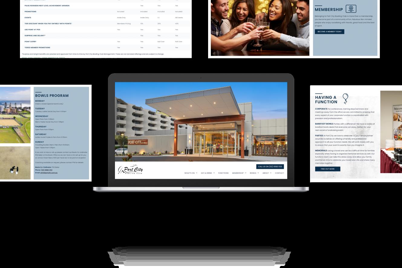 Website Development for Port City Bowl