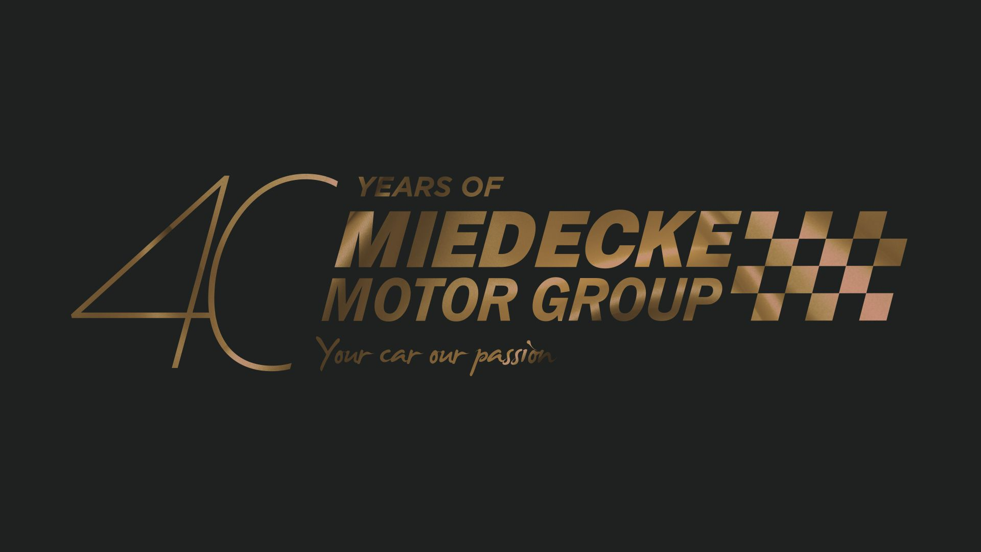 gold version of miedecke logo