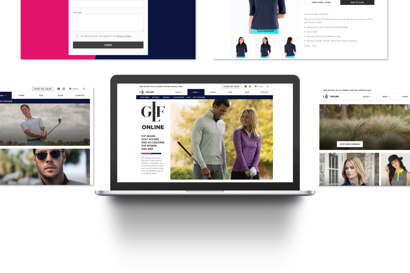 Website Development for GLF Online- a high converting e-Commerce Store with Headless Shopify