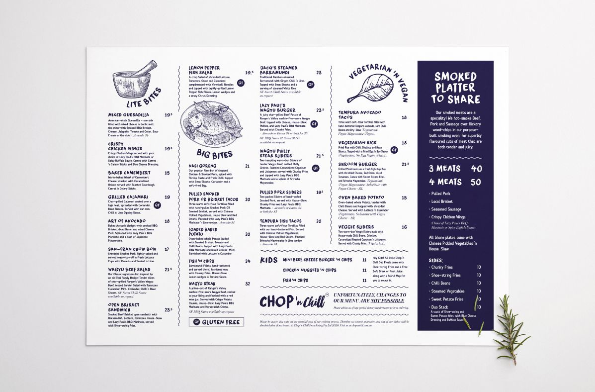 Graphic Design services for Chop 'n Chill