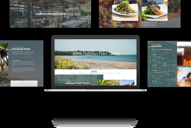 Website Development for Hallidays Point Taven