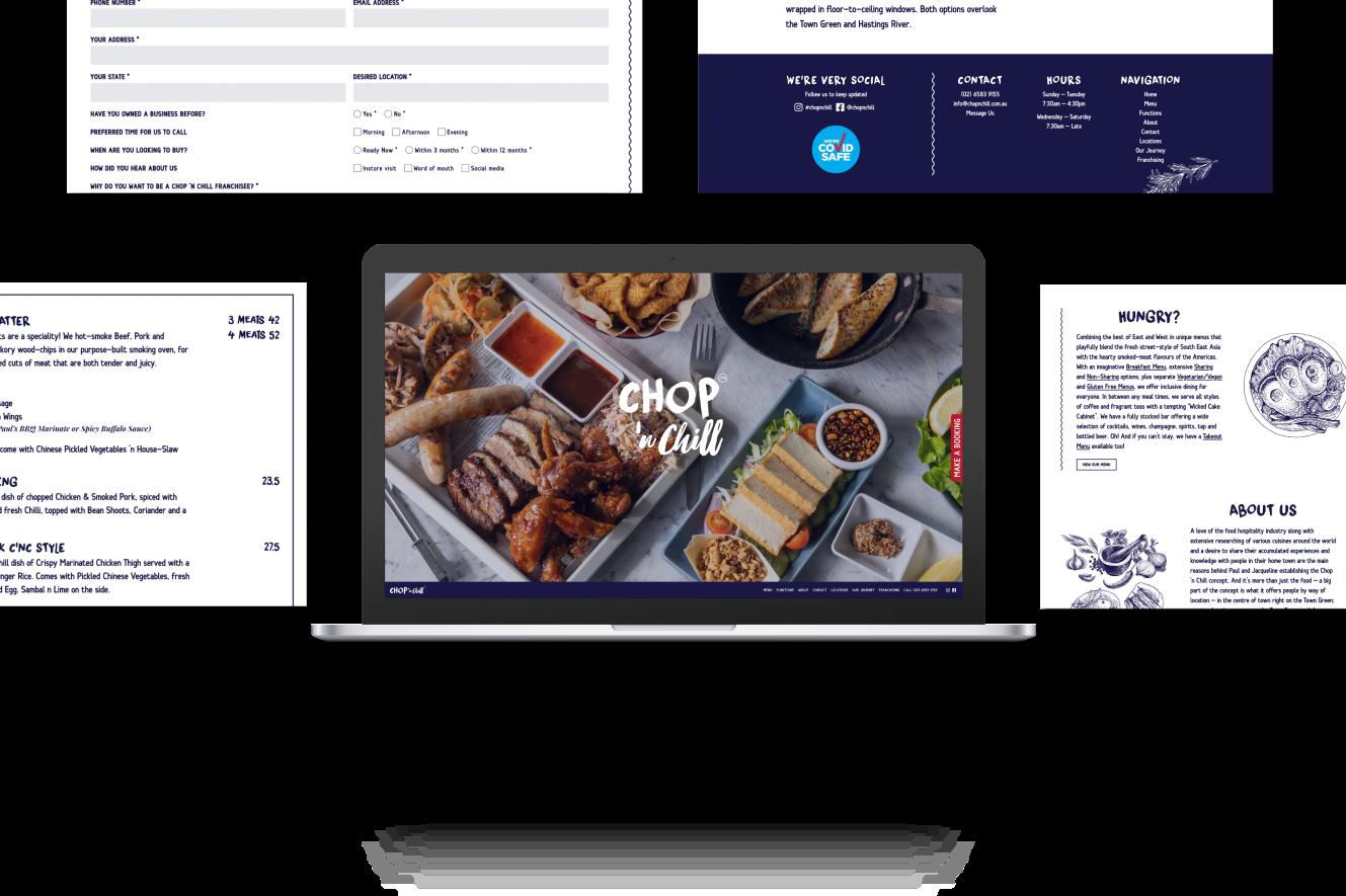 Website Development for Chop 'n Chill