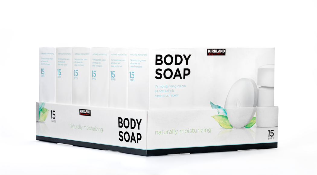 Costco Bar Soap Front and Side Display