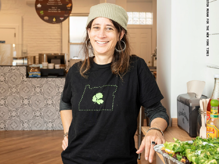 Tali Ovadia, the founder of the Whole Bowl via The New York Times (https://www.nytimes.com/2019/11/18/dining/the-whole-bowl-brooklyn.html)