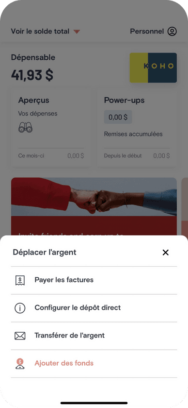 Déplacer de l'argent