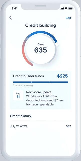 Credit Building App Screen