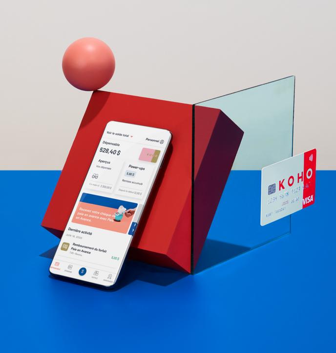 KOHO Visa prépayée Carte & App Money Management
