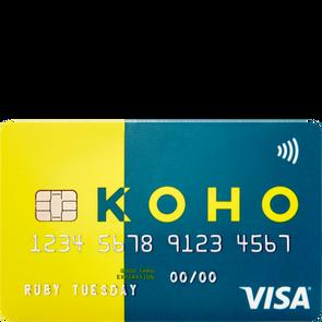 KOHO Personal account Visa