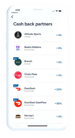 KOHO App Screen - Reward Partners