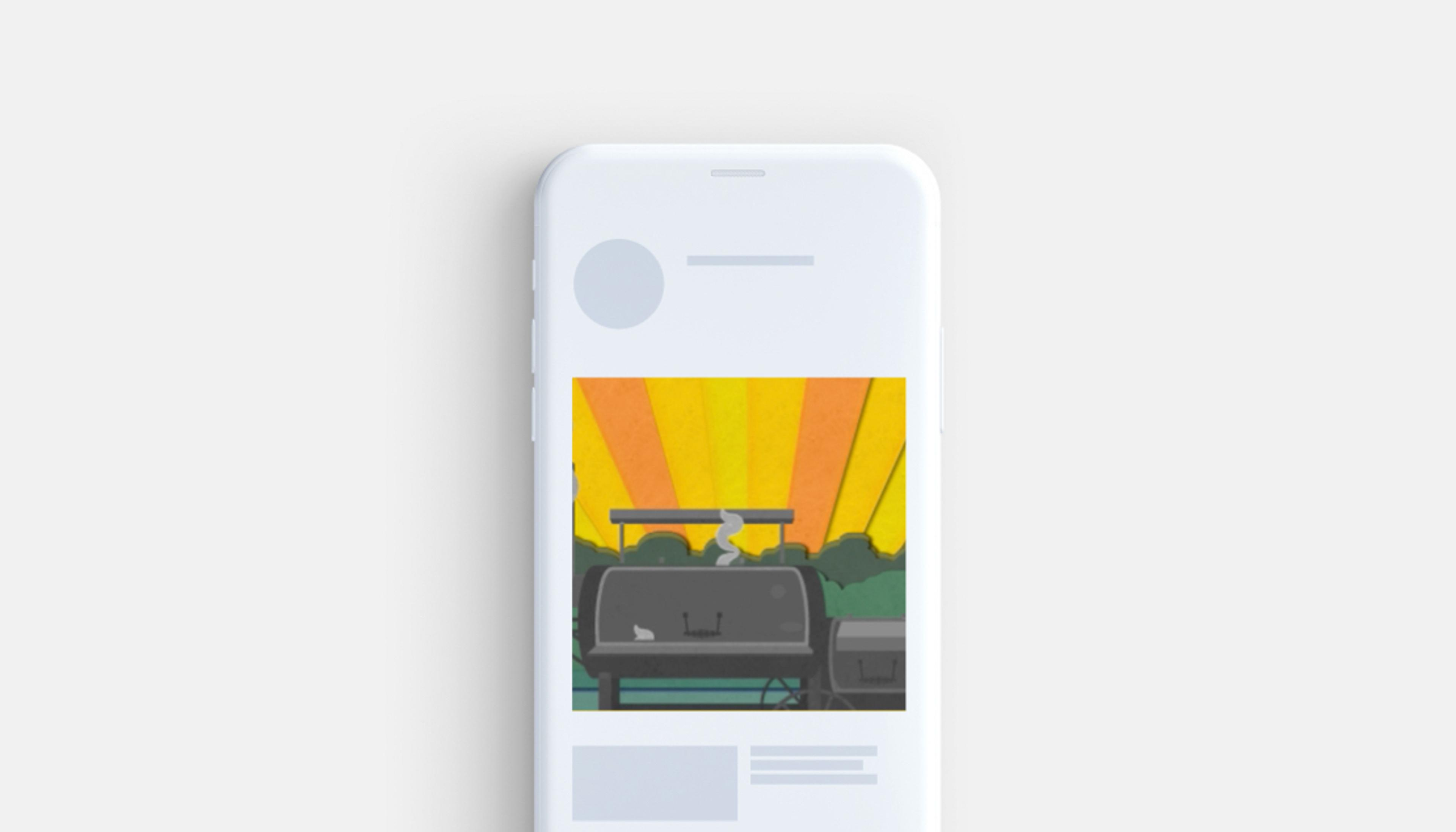 Subway animated banner on mobile device