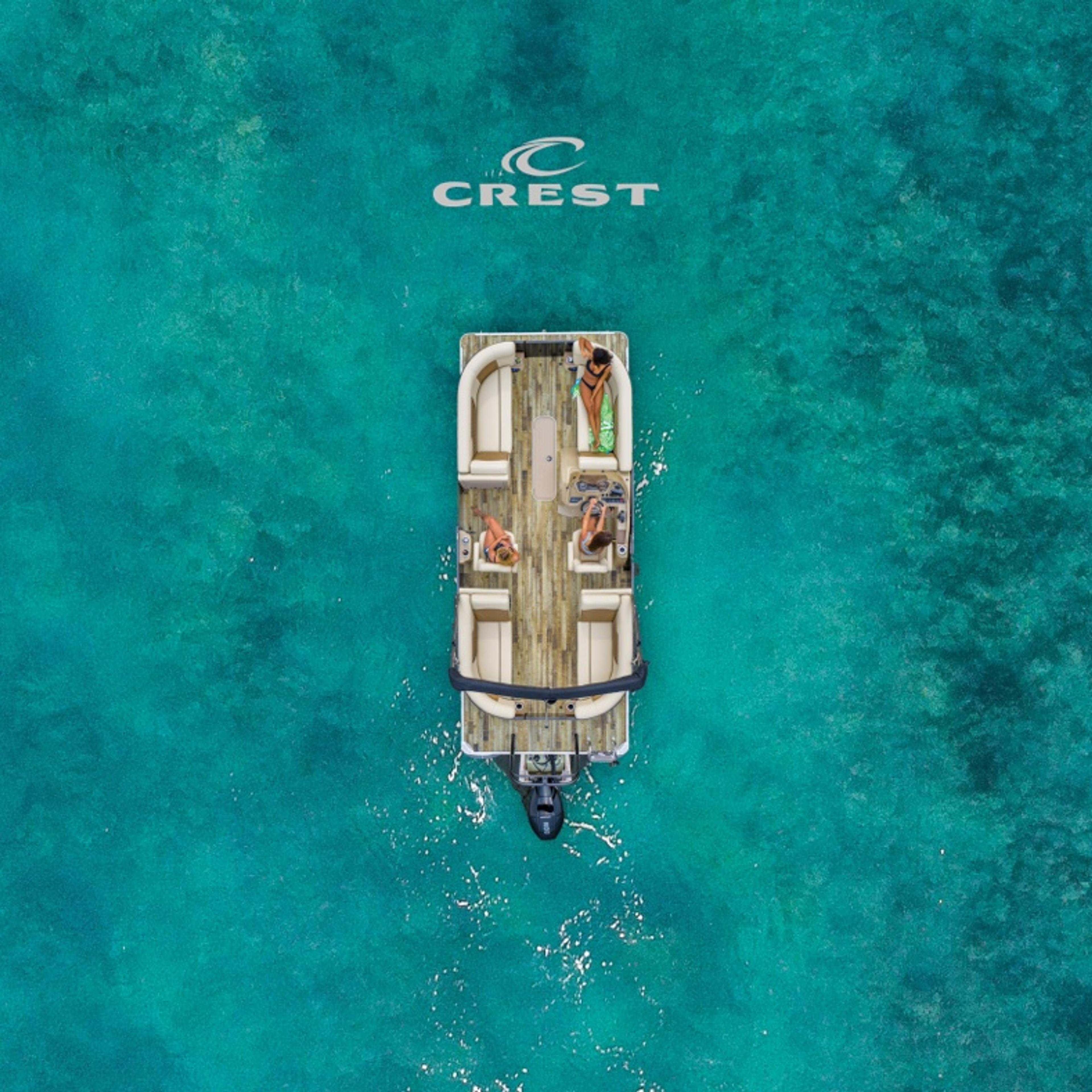 Crest Pontoons Brand Poster
