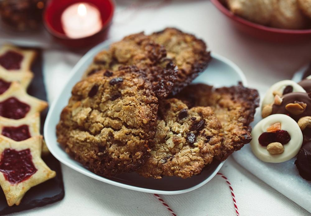 Havrecookies med sjokolade