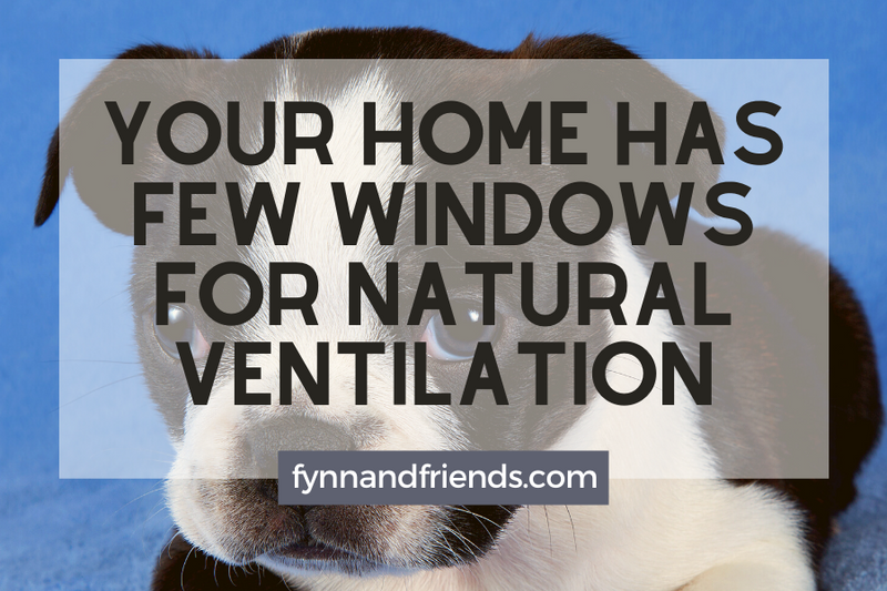 Your home has few windows for natural ventilation