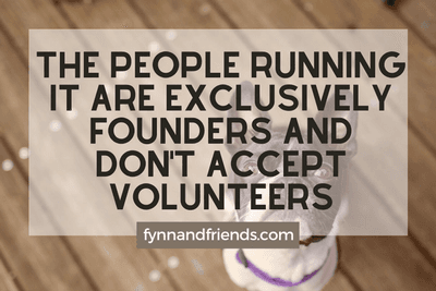 The people running it are exclusively founders and don't accept volunteers