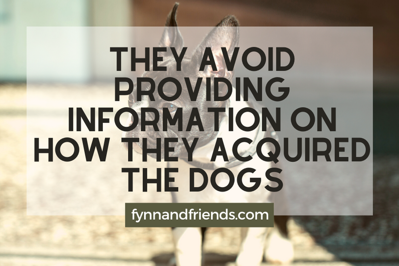 They avoid providing information on how they acquired the dogs